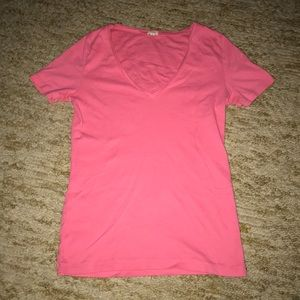 J.Crew women's pink V-neck tee